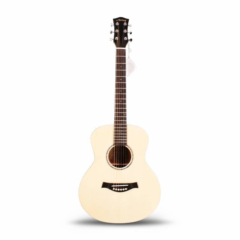Qteguitar 36 inch acoustic guitar with solid top AT-009