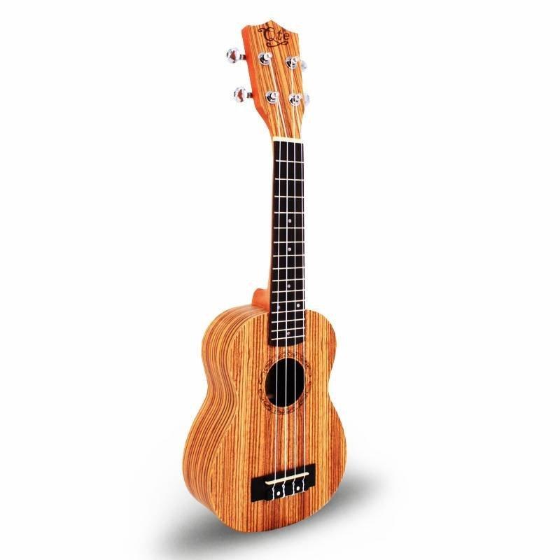 Qteguitar 21 inch  zebrawood saprano ukulele 21B